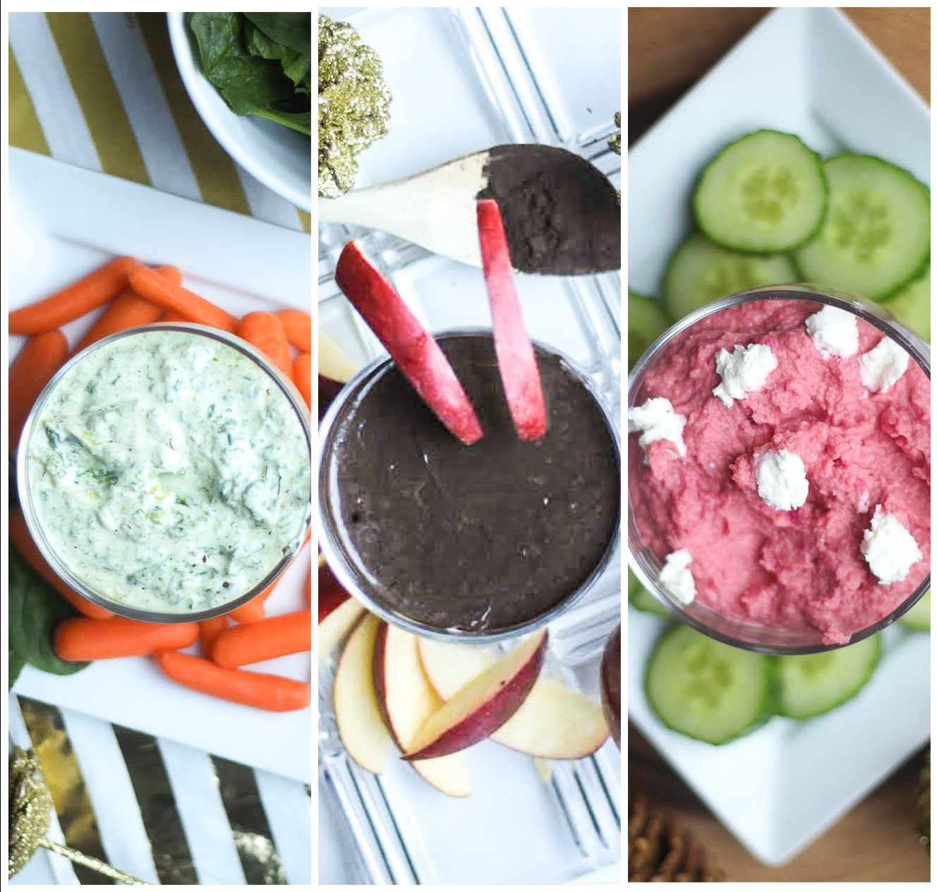 3 Minute Healthy Dips – 3 Ways